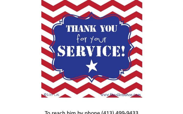 Veterans Agent at Hinsdale Town Hall !! On Wednesday, September 29, 2021 Veterans Agent John Herrera  2:30pm ending at 4:00pm.